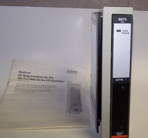 Modicom 984 PLC/800 Series I/O System Model AS-B875-012