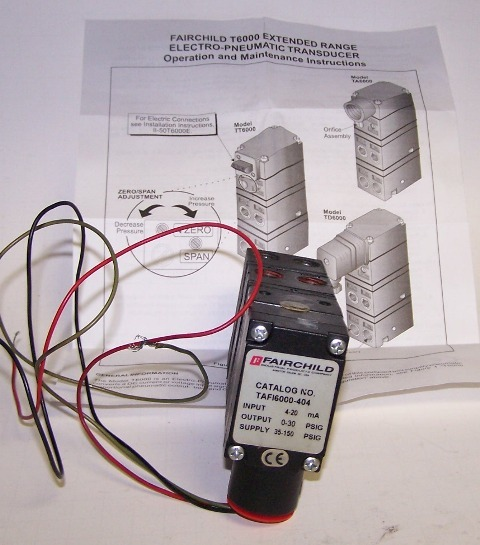 Fairchild T6000 Extended Range Electro-Pneumatic Transducer