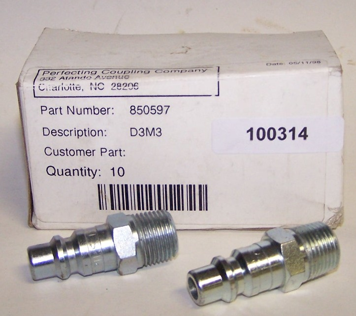D3M3 Pneumatic coupler box of 10