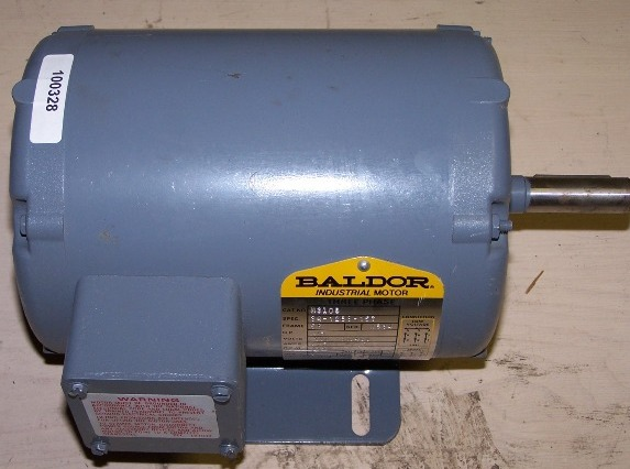 Baldor Three Phase 1/3HP, 208-230/460 Volt, 3 Phase, 60HZ motor
