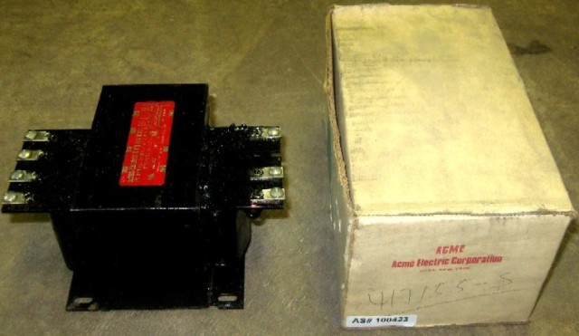 Acme Electric Industrial Control Transformer