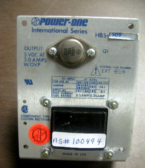 Power-One International Linear DC Power Supplies