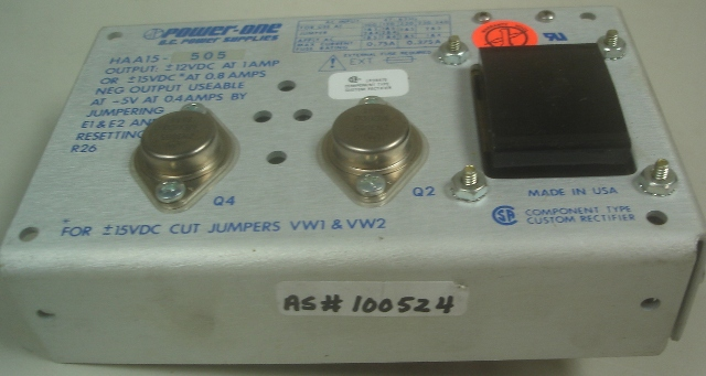 Power-One D.C. Power Supply HAA15-505