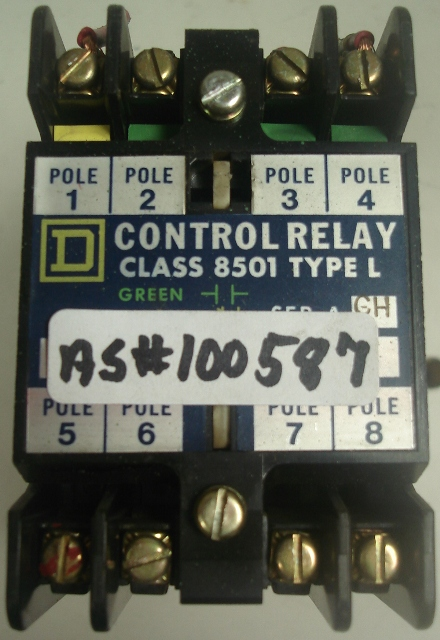 SQUARE D Control Relay Class 8501 Type L