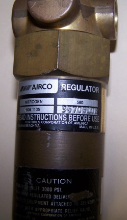 AirCo 806-1135 Regulator with Pressure Gauge and Shut off Valve