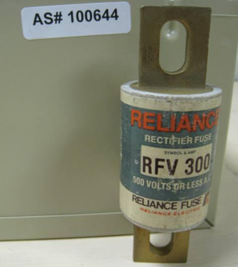 Reliance Electric Rectifier Fuse Symbol and Amp: RFV 300