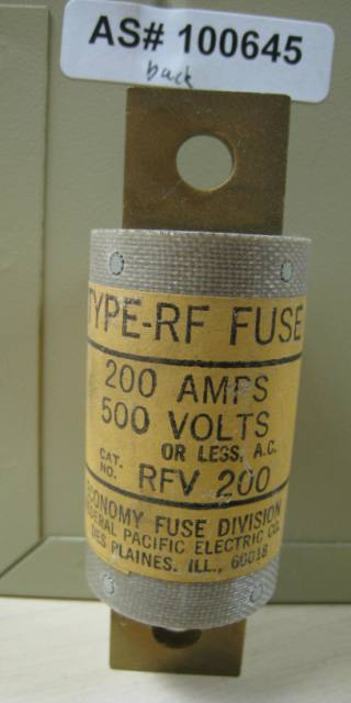Federal Pacific Electric RF Fuse RFV 200