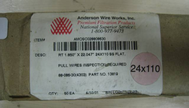 Anderson Wire Works Filter 13819 50 Pack