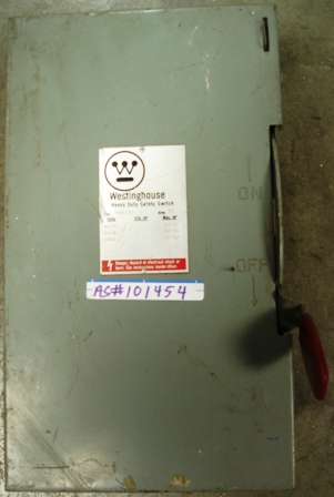 WESTINGHOUSE Safety Switch 60amp., 600Vac