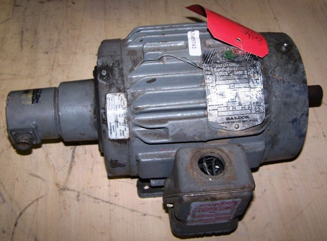 Baldor Motor 1HP 230/460 3PH 1725RPM Frame:143TC