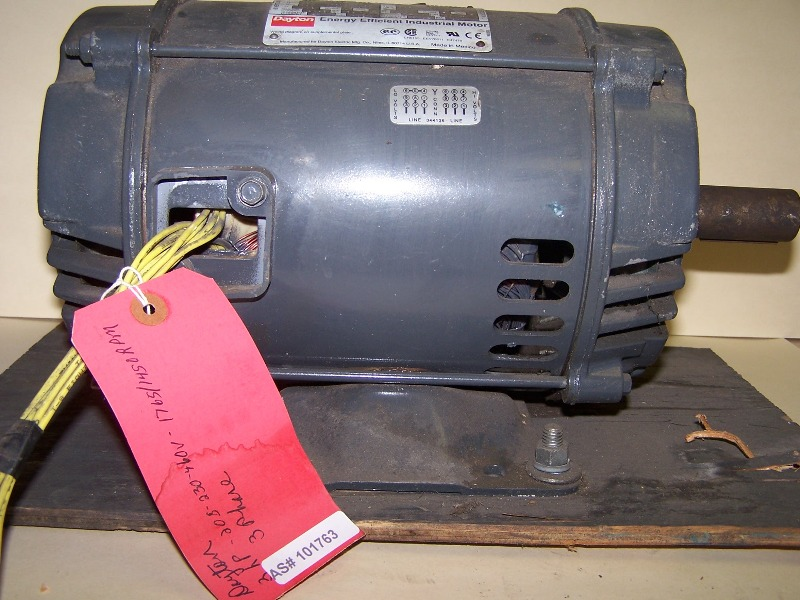Model No. 3KW34A Dayton Energy Efficient Industrial Motor