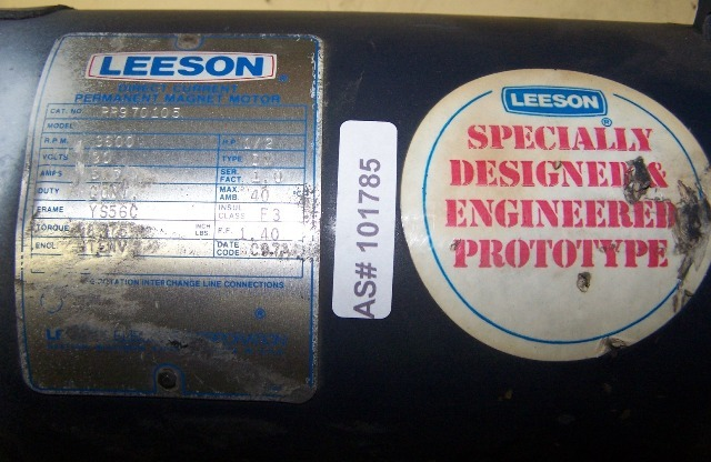 Leeson DC Permanent Magnet Motor
