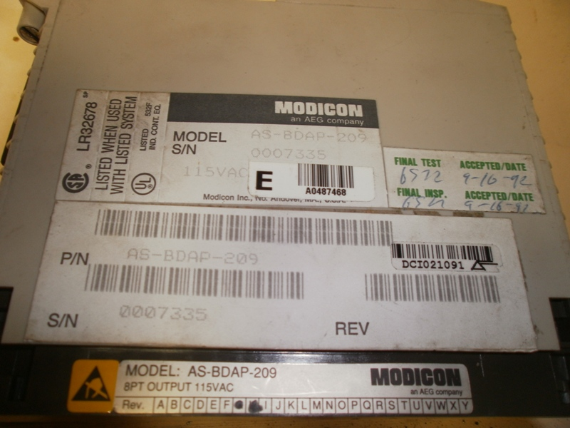 Modicon AS-BDAP-209, S/N 0007335