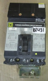 Square D Thermal-Magnetic Circuit Breaker 60A FA34060