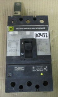 Square D Thermal Magnetic Circuit Breaker 175A KAL36175